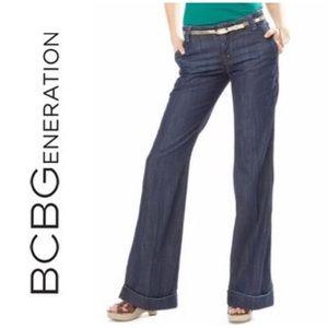 BCBGeneration 30 Wide Leg Flare Jeans Brenna